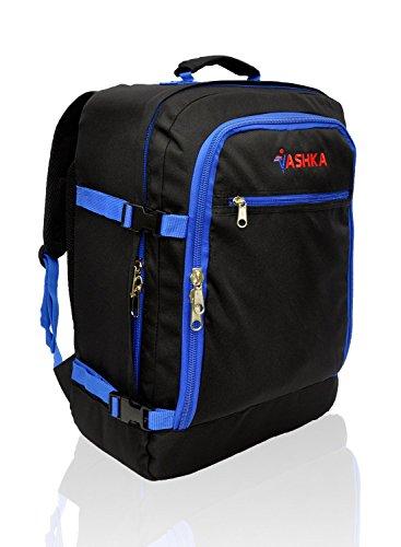 Vaska Backpack approuvé par les compagnies de vols Le Sac à dos immense de 44 litres bagages à main 55x40x20 cm - Marine