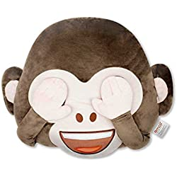 Emoji Cojín Bordado Mono Manos Oficial (PIW_Monkey_Eyes_EB)