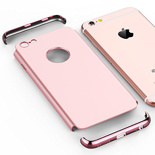 SMART LEGEND Cover iPhone 6 / 6 Plus, iPhone 6 / 6 Plus Case Rigida 3-in-1 Placcatura Ultra Slim Stylish Hard Case con Plating Matte Material - Rose Gold Rose Gold