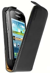 mumbi PREMIUM Leder Flip Case für Samsung Galaxy Xcover 2 Tasche
