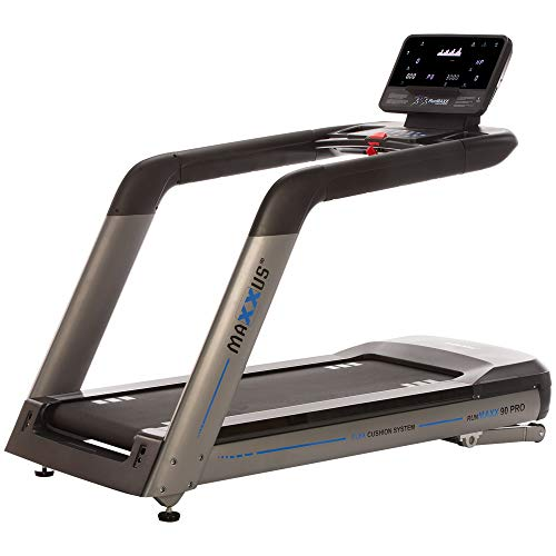 Profi Laufband MAXXUS RunMaxx 90 PRO - Treadmill Mit Bluetooth APP-Steuerung - 4 PS AC Motor, 22km/h - Extra Große Lauffläche (155 x 60cm) Mit Perfekter Dämpfung Für Sicheres Trainingsgefühl -