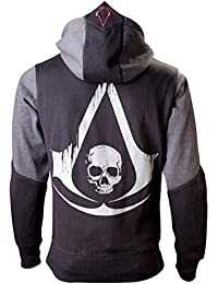 Assassins Creed 4 Hoodie XS Black Grey Character [Import allemand]