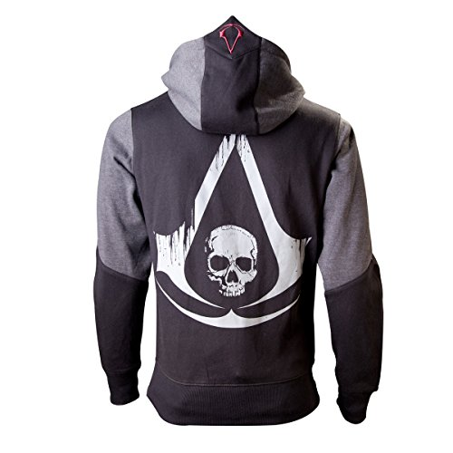 Assassin's Creed IV - Black Flag Skull Kapuzenjacke schwarz/grau (Assassins Creed Kapuze)