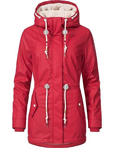 Ragwear Damen Outdoor-Jacke Regenparka Monadis Rainy Black Label Chilli Red Gr. L - 4