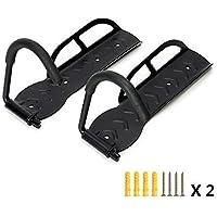 Taide - 2 soportes de pared con gancho de gran calidad para colgar o exponer bicicletas, de acero negro, ahorran espacio