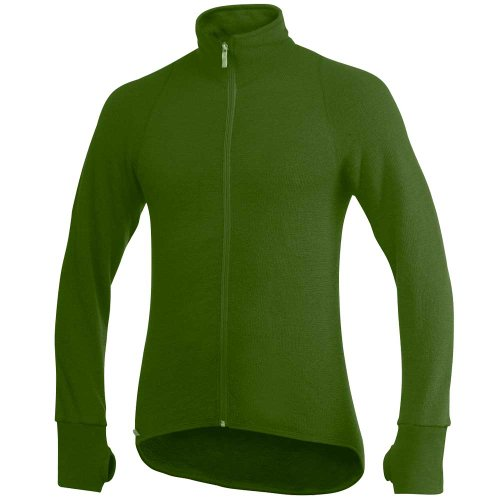 Woolpower Full Zip Jacket Wolljacke 400, grün, Gr. M (Gestrickter Rumpf)