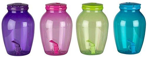 5lt plástico tornillo Top color verano bebida dispensador de servicio de bebidas tarro w/grifo
