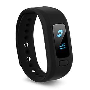 Excelvan Moving Up2 Montre de Sport Tracker d'Activité Connecté Santé Bracelet Bluetooth 4.0 Écran OLED Intelligente Rappel Sommeil Calories Tracker Remote Capture Pour Andorid et IOS