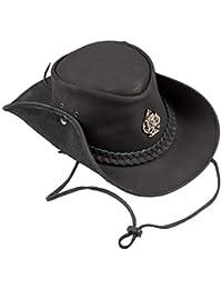 H15 Cowboyhut Skull - Lemmy Style Lederhut aus hochwertigem Rinderleder