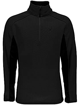 Spyder Outbound Tailored Mid Wt - Jersey para hombre, hombre, 415034, black-black, Mittel
