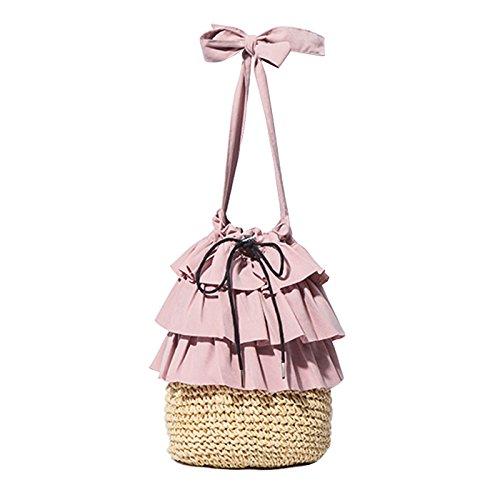 CHNHIRA Women's Handbags Shoulder Totes Cross Body Bucket Bag Satche Lotus Leaf...