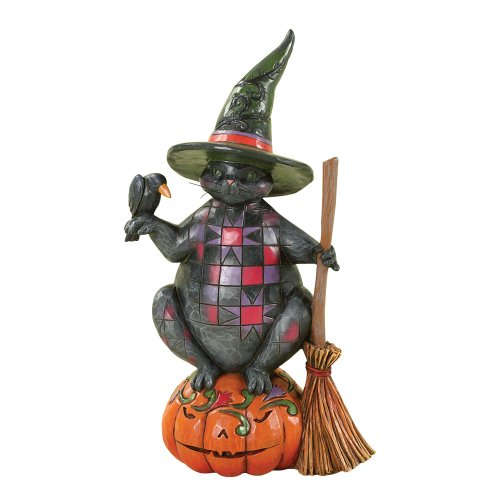 ENESCO 4027794Jim Shore Heartwood Creek Halloween Katze Figur, 7-3/4-Zoll