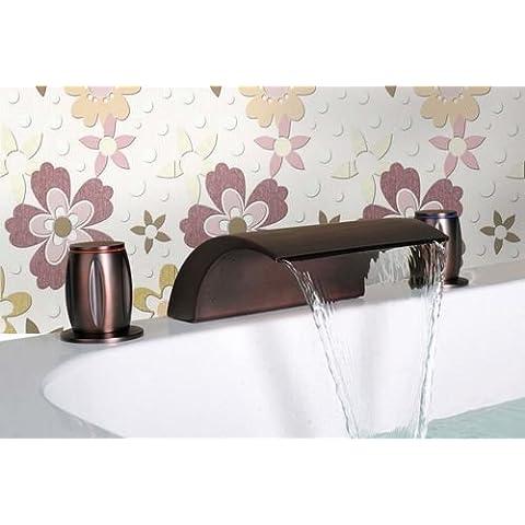 CAC Il lusso del bagno maniglie doppia vasca a cascata
