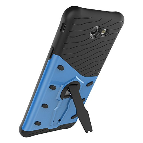 Für Samsung Galaxy J7 2017 Case Tough Hybrid Heavy Duty Shock Proof Defender Cover Dual Layer Armor Combo Mit 360 ° Swivel Stand Schutzhülle Fall ( Color : Silver ) Blue