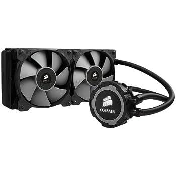 Corsair Hydro H105 Wasserkühlung (2 x 120mm Lüfter, All-In-One Extreme Performance CPU) schwarz