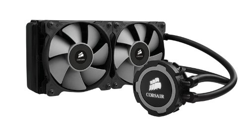 Corsair CW-9060016-WW Hydro Series Wasserkühler (H105 240 mm, Extreme Performance All-In-One CPU) schwarz