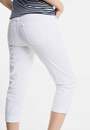 CECIL Damen Hose mit Stickerei Victoria white (weiss)