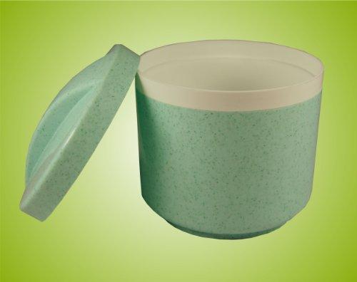 Zahnspangendose/ Zahnprothesendose/ Gebissdose/ Dentalbox mit Sieb und Deckel ! Farbe: GRÜN Top-Qualität