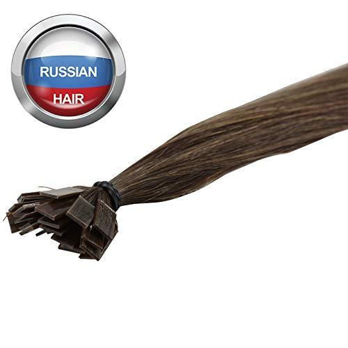 Extensions Cheveux Kératine 100 mèches russes 1gr Noisette Clair 50cm