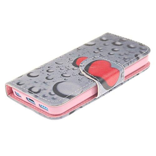Nutbro iPhone 5C Case, iPhone 5C Wallet Case, [Wallet Case] PU Leather Flip Case For Apple iPhone 5C ZZ-iPhone-5C-38