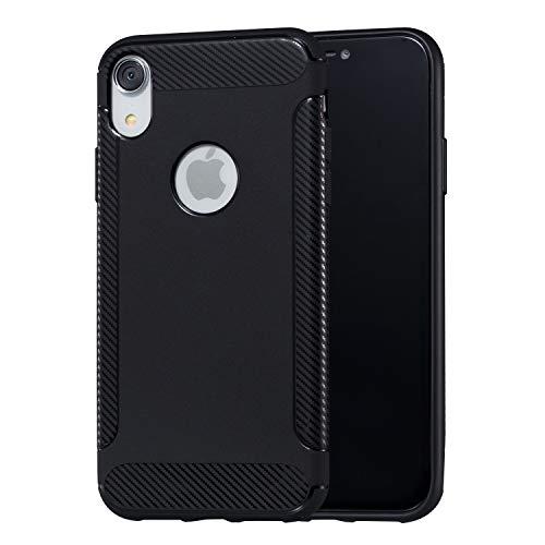 BONROY iPhone Xr Hülle Dünn Silikon, Handy Schutzhülle für iPhone Xr Hülle TPU Silikon Backcover Case Handytasche Einfarbig Telefon-Kasten Tasche Schutz Cover Design - (LD-schwarz)