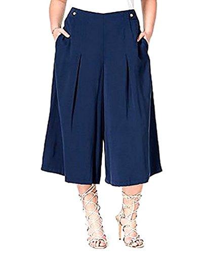 Rachel Rachel Roy Plus Size Plissee Gaucho Hose Damen Gr??e 14W Navy (Plus Size Gauchos)