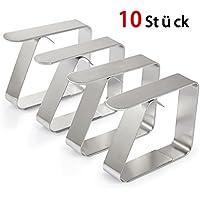 10 Stück Tischtuchklammern weiß