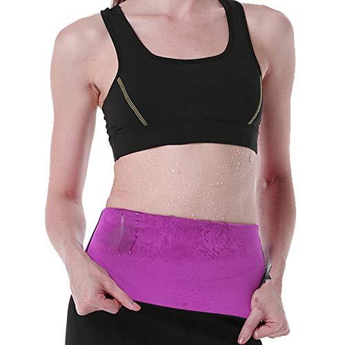 Damen Hot Sweat Slimming Neopren Shirt Body Shapers für Gewichtsverlust Fat Burner Tank Top - violett - Klein - Top Fat Burner