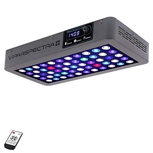VIPARSPECTRA Timer Control 165W LED Aquarium Light Dimmbare LED Aquarien Beleuchtung Vollspektrum für Korallen Riff Meerwasser Süßwasser Growing Fisch Tank Leuchte Lampe -