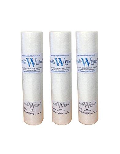 PP Sediment-Wasserfilterkartusche, Umkehrosmose, 1 Mikron, 25,4 cm, 3 Stück