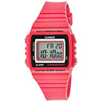 Casio Women's Classic W215H-4AV Pink Plastic Quartz Watch with Digital Dia
