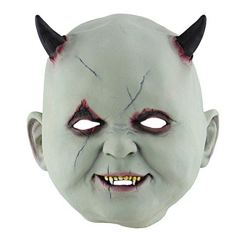 ecklich gruselig schrecklich beängstigend realistische kleine Teufel Maske Cosplay Maskerade Partei Requisiten liefert ()