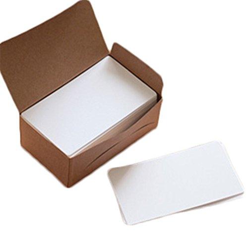 El paquete incluye: 1 caja, 100pcs cada cajaTamaño de la tarjeta: 9 x 5,3 cm; Doble cara disponibleMaterial: tarjeta de artesanía; blancoEs como la tarjeta de papel de Kraft, la cartulina en blanco de Kraft, la tarjeta del mensaje de la tarjeta de la...