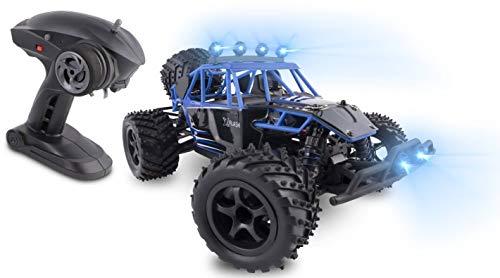 Overmax OV X-Flash Ferngesteuertes Hochgeschwindigkeitsfahrzeug mit hydraulikfederung und Licht, blau