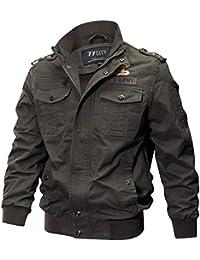 TIFIY Wintermantel Jacke Herbst Militär Parka Sweatshirt Sweat Outwear Draussen Strickjacke Sport Umhang Solide Tunika Pullover M-6XL