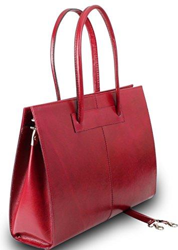 Made in italy sac de sac à main pour femme en cuir véritable iT rouge