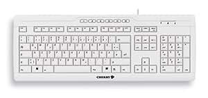 Cherry Multimedia Tastatur 104 Tasten USB/PS2 Kombo grau