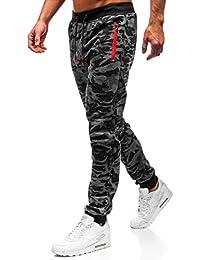 BOLF Hombre Deporte Pantalones Entrenamiento Fitness Jogger Motivo 6F6 Mix