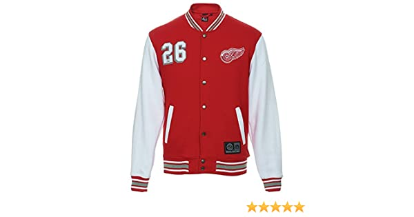 73c7fd7d9e2 NHL Detroit Red Wings Cotland Fleece Letterman Jacket (Majestic Athletic) ( XX-Large)  Amazon.co.uk  Sports   Outdoors