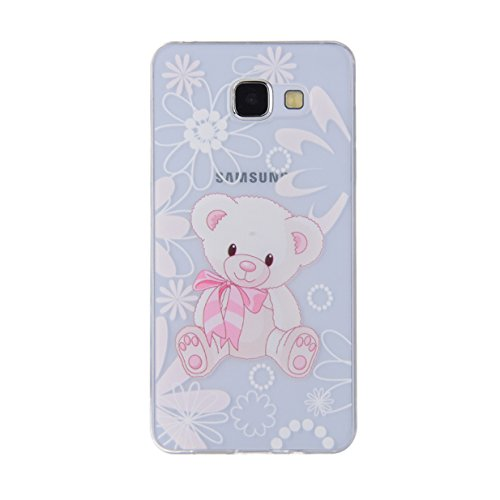 WYSTORE TPU Silicone Case for Samsung Galaxy A5(2016) A510 Gel Rubber Cover Soft Flexible Shell Bumper Smooth Lightweight Skin Ultra Thin Shell Creative Design Sleeve Anti-Scratch Anti-Shock Cover Pro A2