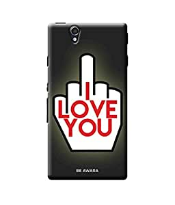 Be Awara I Love You Not Designer Mobile Phone Case Back Cover For Sony Z4