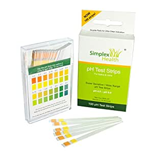 Simplex Health pH Test Strips for Urine and Saliva (100 strips)