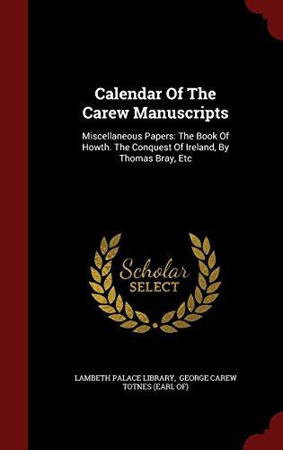 Calendar Of The Carew Manuscript...