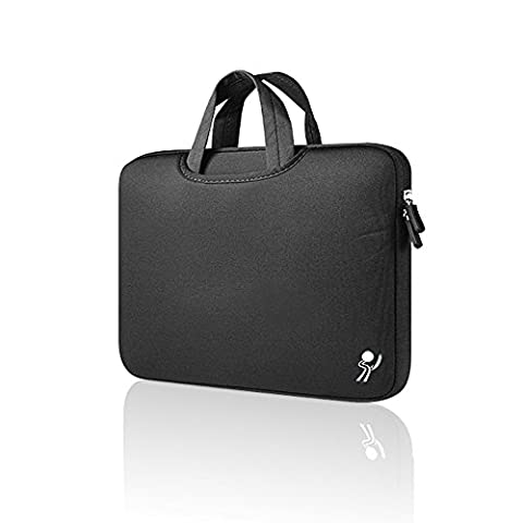 ProElife 13-Inch Premium Neoprene Case Bag Sleeve for Apple MacBook 13'' 13.3'' Dell Asus Acer HP Samsung 13'' 13.3'' (13-13.3 inches, Portable-Black)
