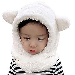 Tuopuda Plüsch Baby Mützen Schalmütze Niedlich Winter Kinder Mädchen Jungen Warm Atmungsaktive Schlupfmütze Nackenwärmer Wintermütze Warm Babymütze Unisex Kleinkind
