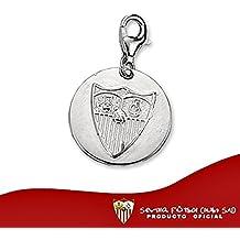 Charms escudo Sevilla FC plata de ley redondo mosquetón [8568] - Modelo: 40-073