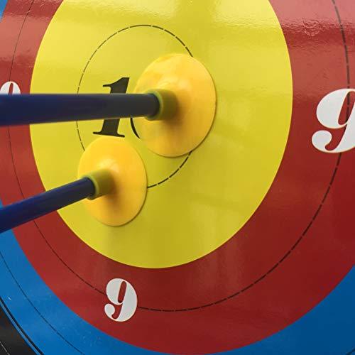 6pcs Flechas de Caza Tiro con Arco Ventosa Flecha niños Tiro con Arco Juego Seguridad Flechas de Goma para Adolescentes Tiro Entrenamiento