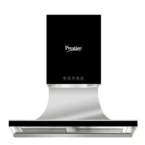 Prestige 90cm 1000 m3/hr Chimney (AKH 900 DB, 2 Baffle Filters, Touch Control, Steel & Black)