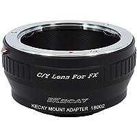KECAY® Adaptador de Montaje de Lente Contax Yashica C/Y a Fujifilm FX Cámara, X-Pro1, X-E1, X-E2, X-A1, X-M1, X-T1, X-T10, C/Y-FX