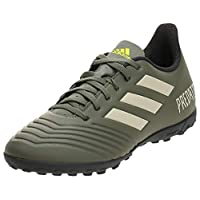 adidas Predator TAN 19.4 Turf Boots Men's Soccer Shoes, Green, 9 UK (43 1/3 EU)